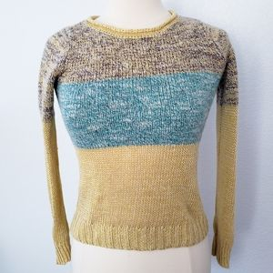 Giuliana Leila Linen Wool Blend Knitted Sweater
